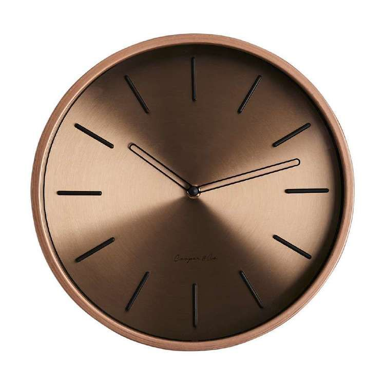 Cooper Co Metallic Clock Rose Gold 29 5 Cm In 2020 Clock Metal Home Decor Styles