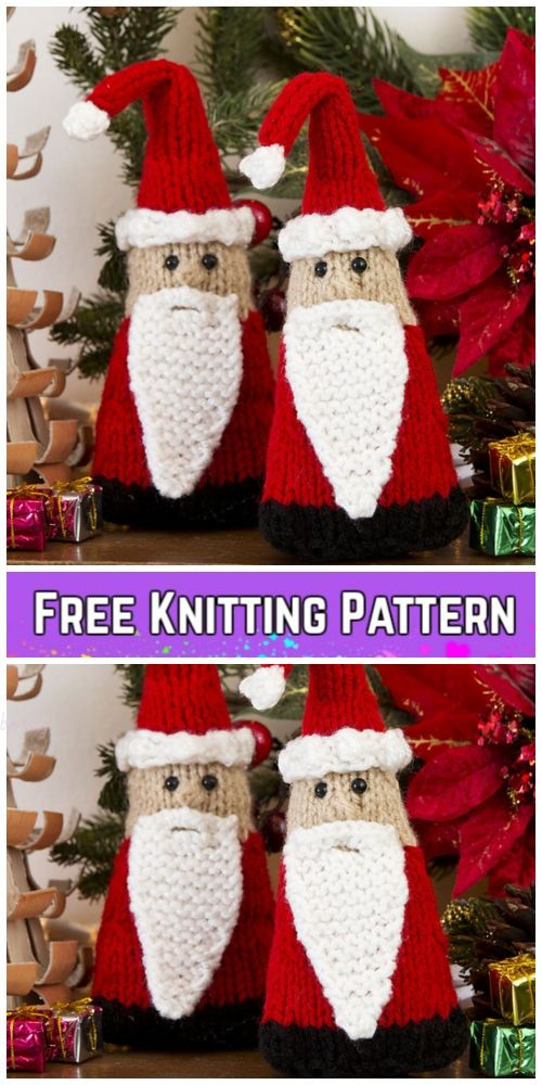 Knit Santa Gnome Free Knitting Patterns | Amigurumi free pattern ...