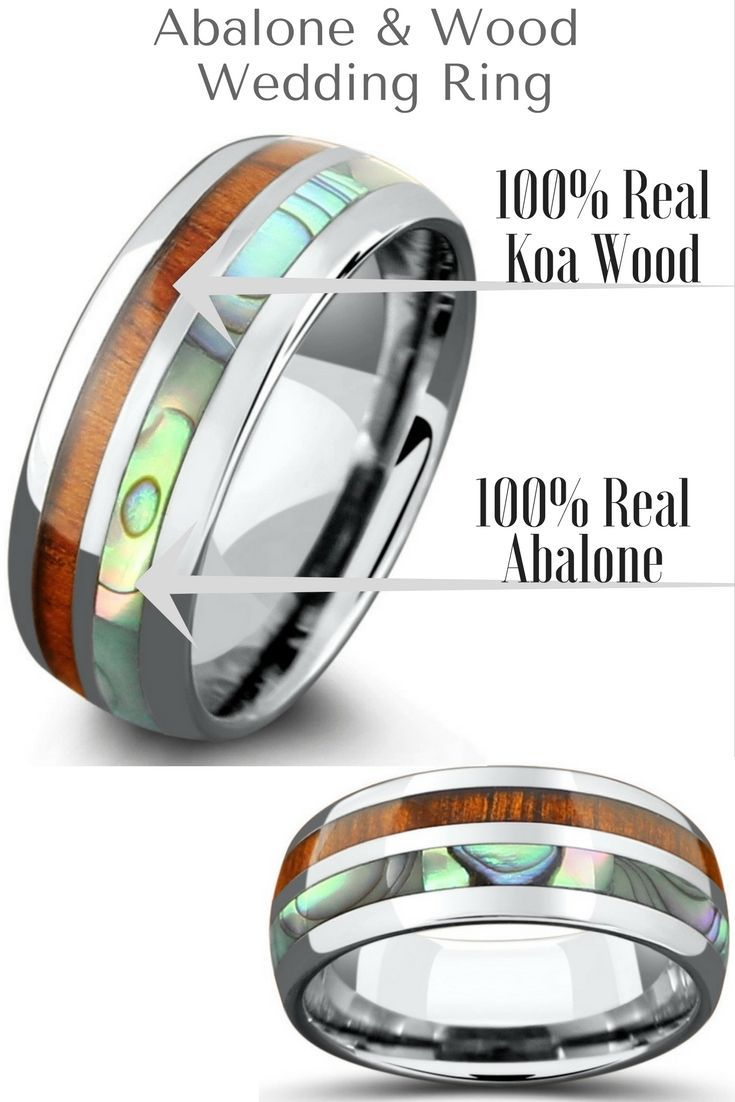wood olive rings jewelry wooden media weddbook abalone from and