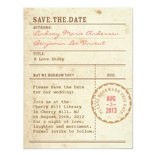 Library Card Save The Date Zazzle Com In 2021 Library Card Wedding Invitations Save The Date Invitations Save The Date Cards
