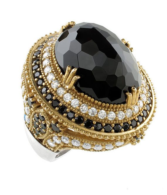 Turkish Ottoman Hurrem Sultan Large oval onyx ring!