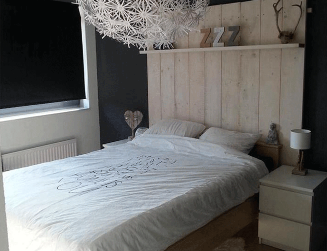 hoofdbord bed steigerhout google zoeken slaapkamer pinterest
