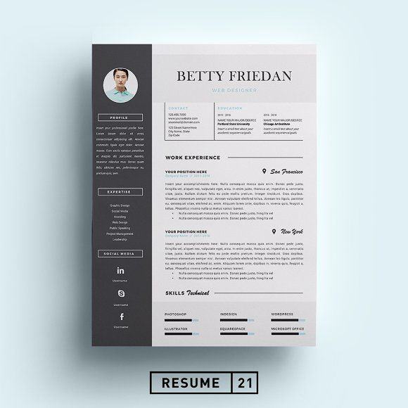 Graphics · Awesome Web Designer Resume Template/ ...  Graphic Designer Resume Template