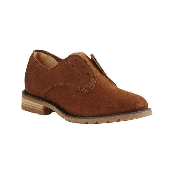 Ariat Vale Laceless Oxford(Women's) -Bronzed Brown Leather Free Shipping Recommend f2ET4LwJTJ