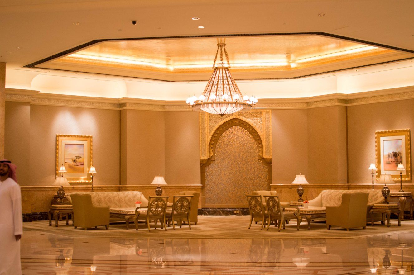 Image result for emirates room gold vessels