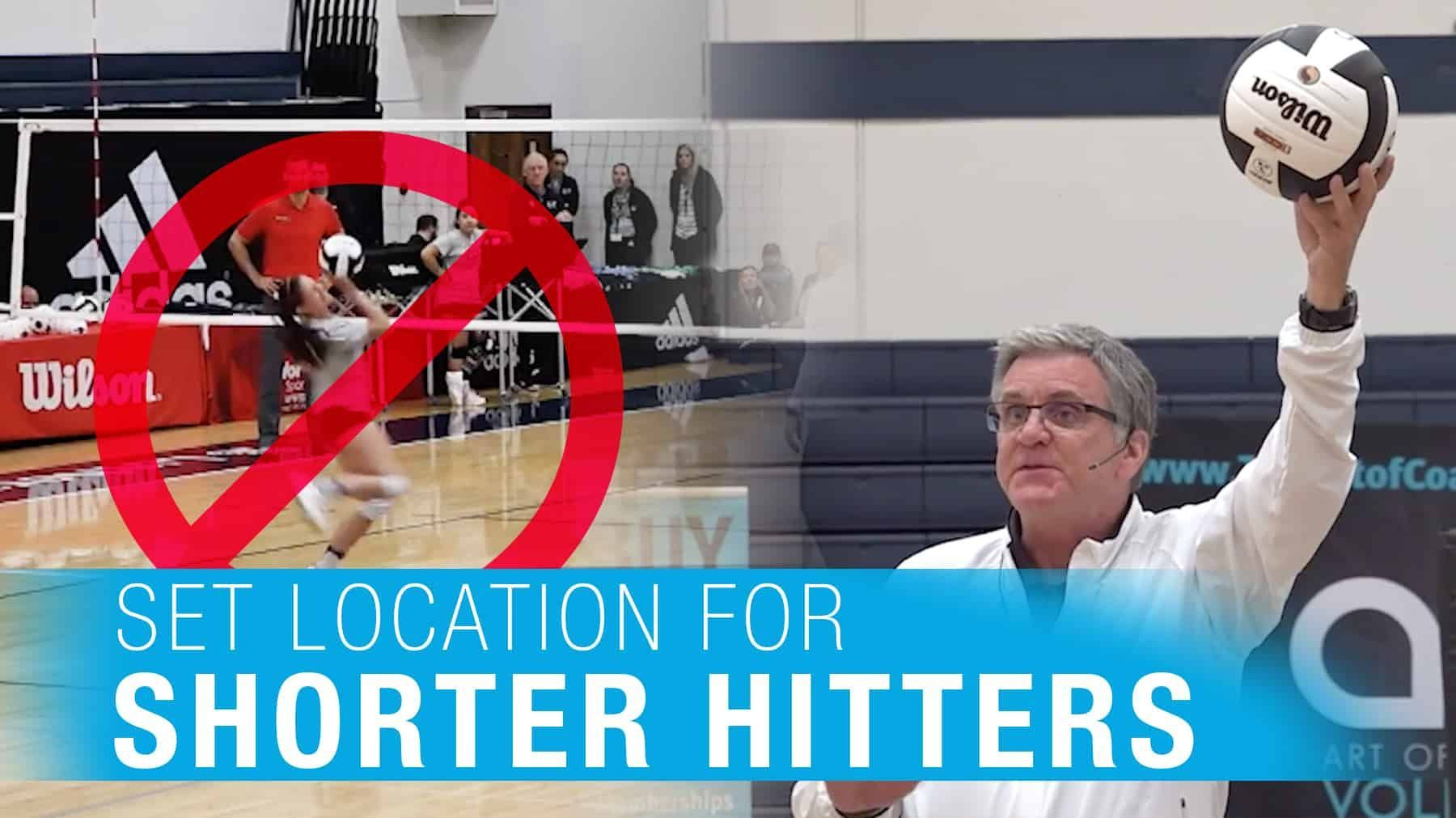 Set Location For Shorter Hitters With Images Coaching Volleyball