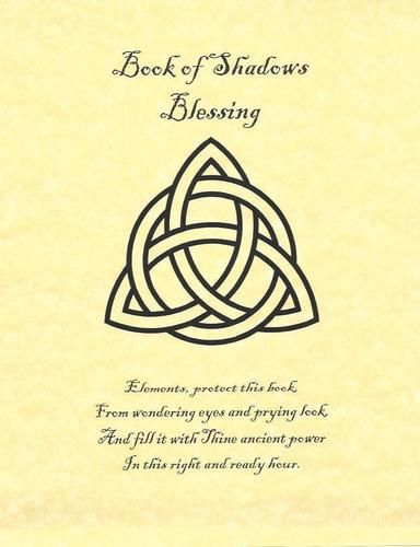 Book of Shadows Blessing Page on Parchment with Triquetra | eBay