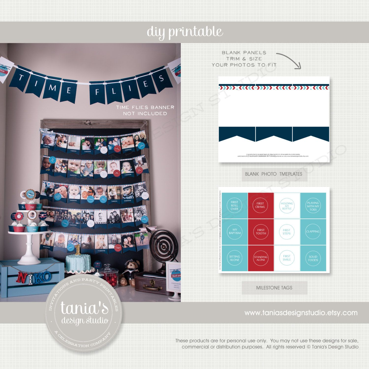 12 Month Photo Banner Template Tutore