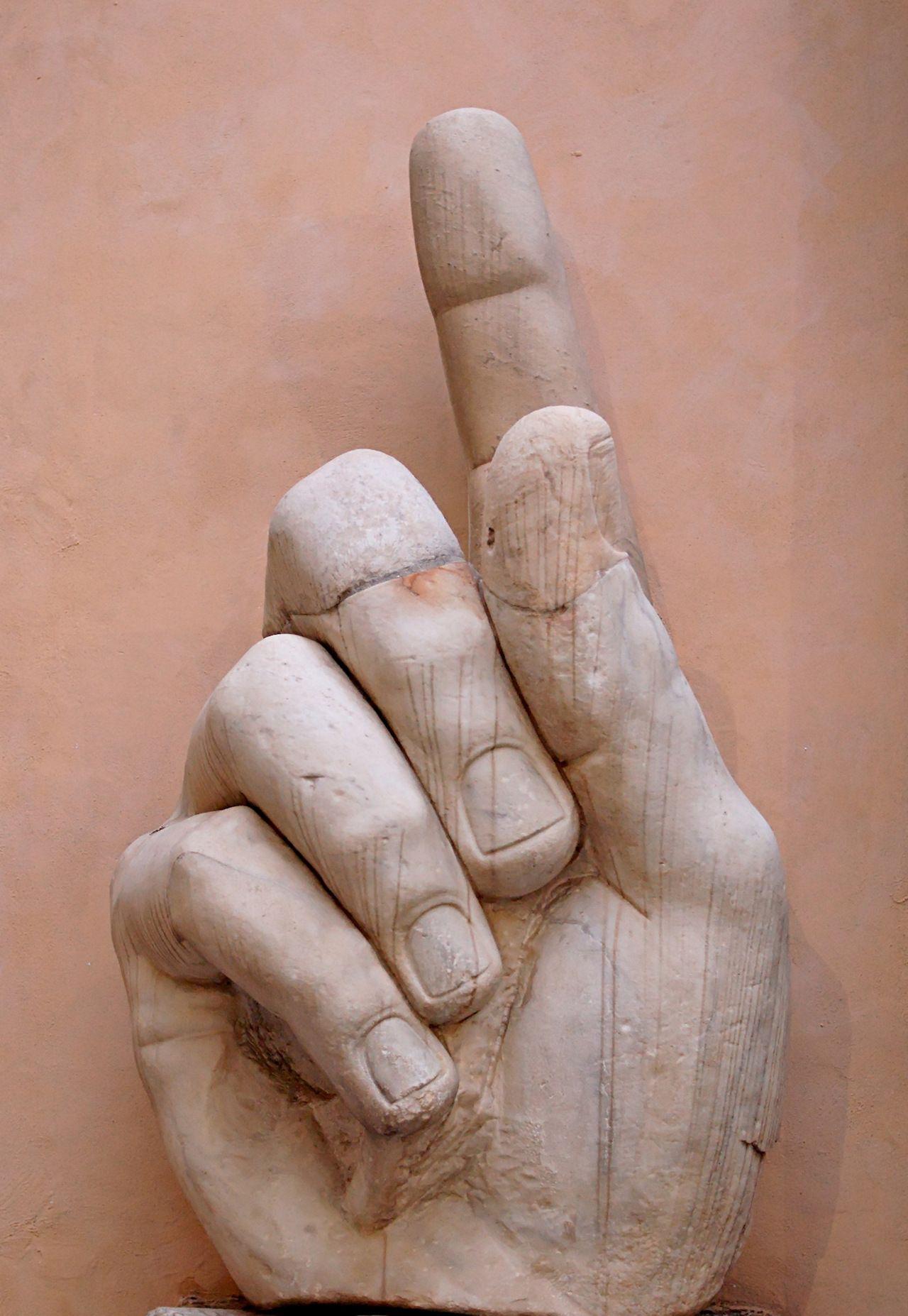 Colossus of Constantine, Giant Hand, (Roman c.325) Musei capitolini Rome
