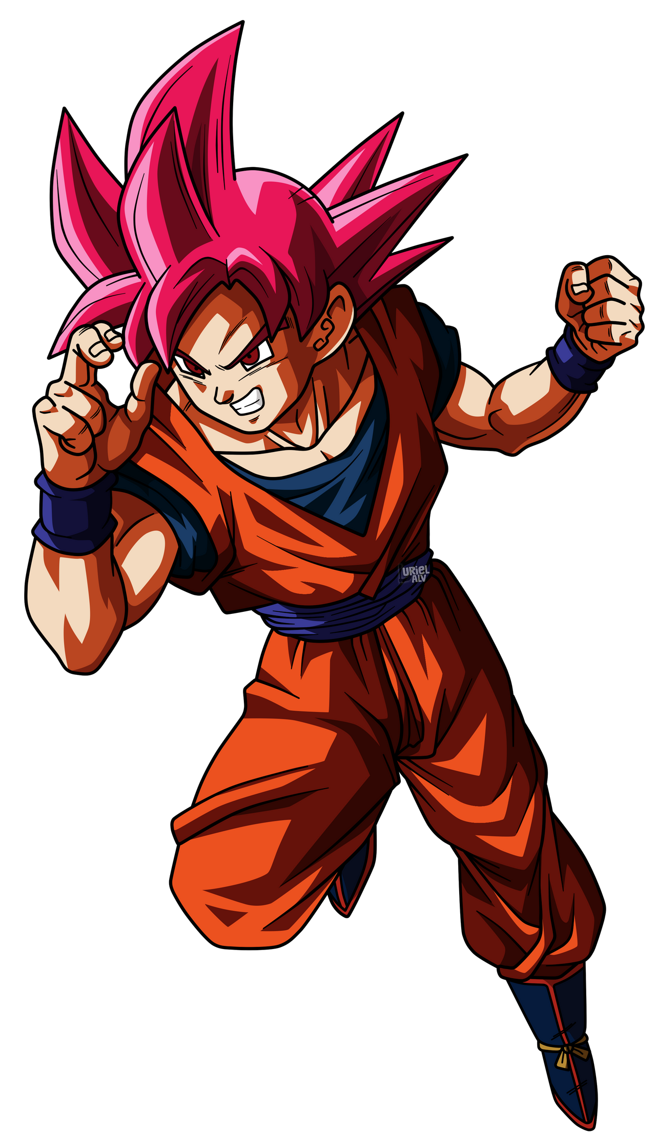 Goku Super Saiyajin Fase Dios By Urielalv On Deviantart Anime Dragon Ball Dbz Characters Anime Fan