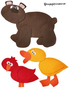 Brown Bear Brown Bear What Do You See Felt Story Set With