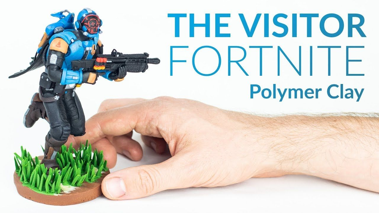 the visitor fortnite battle royale polymer clay tutorial youtube - how to make fortnite characters with clay