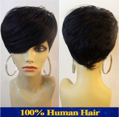 Short wigs for black women human hair wigs