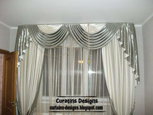 unique curtains designs grey and white
