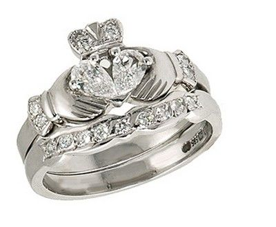 Claddagh Wedding Ring Set | Beautiful Claddagh Wedding Ring Set Wedding Engagement Rings In