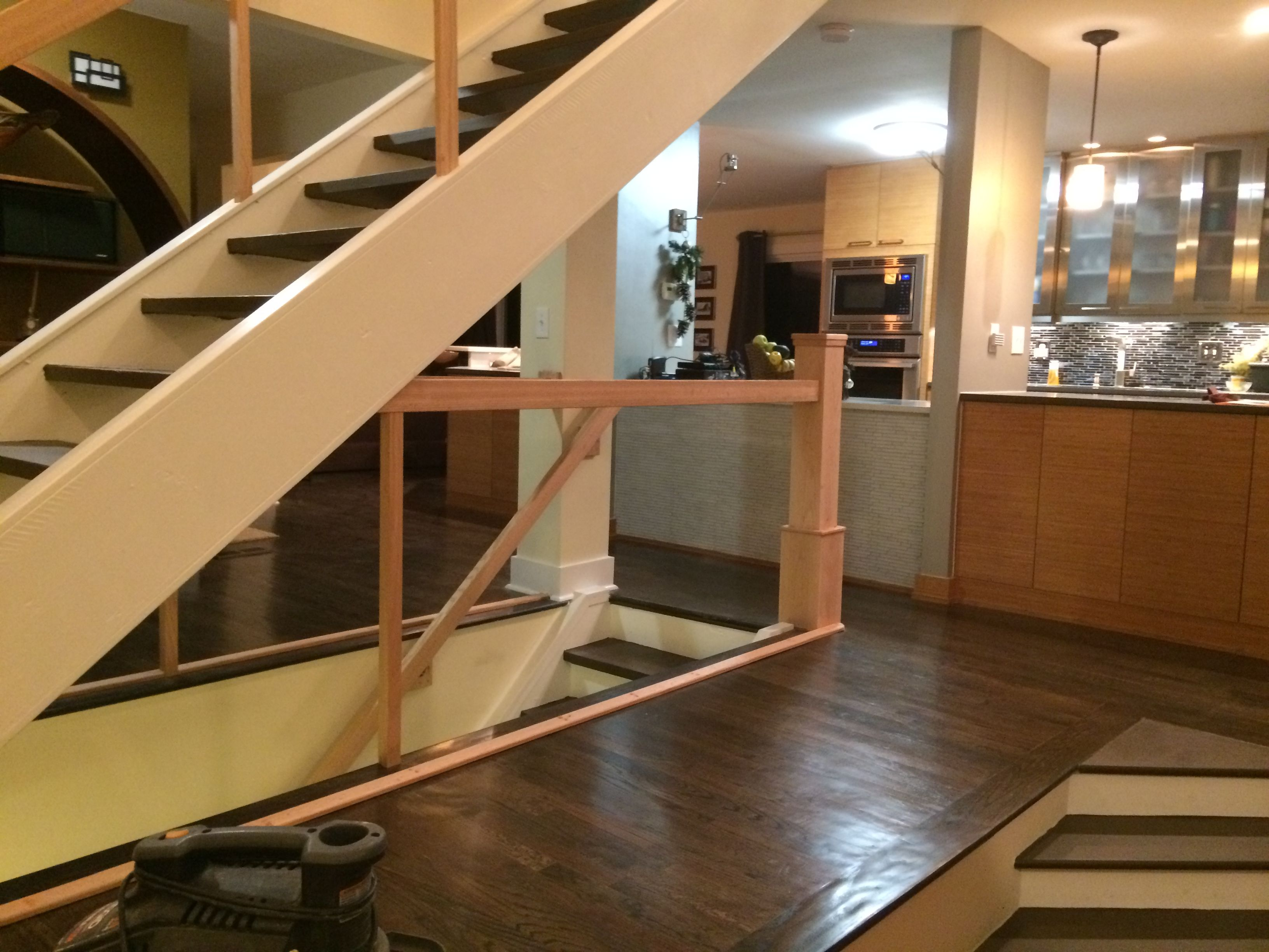 Staircase Upgrade By M.C. Staircase U0026 Trim. Removal Of Tube Balusters And  Installation Of Cable