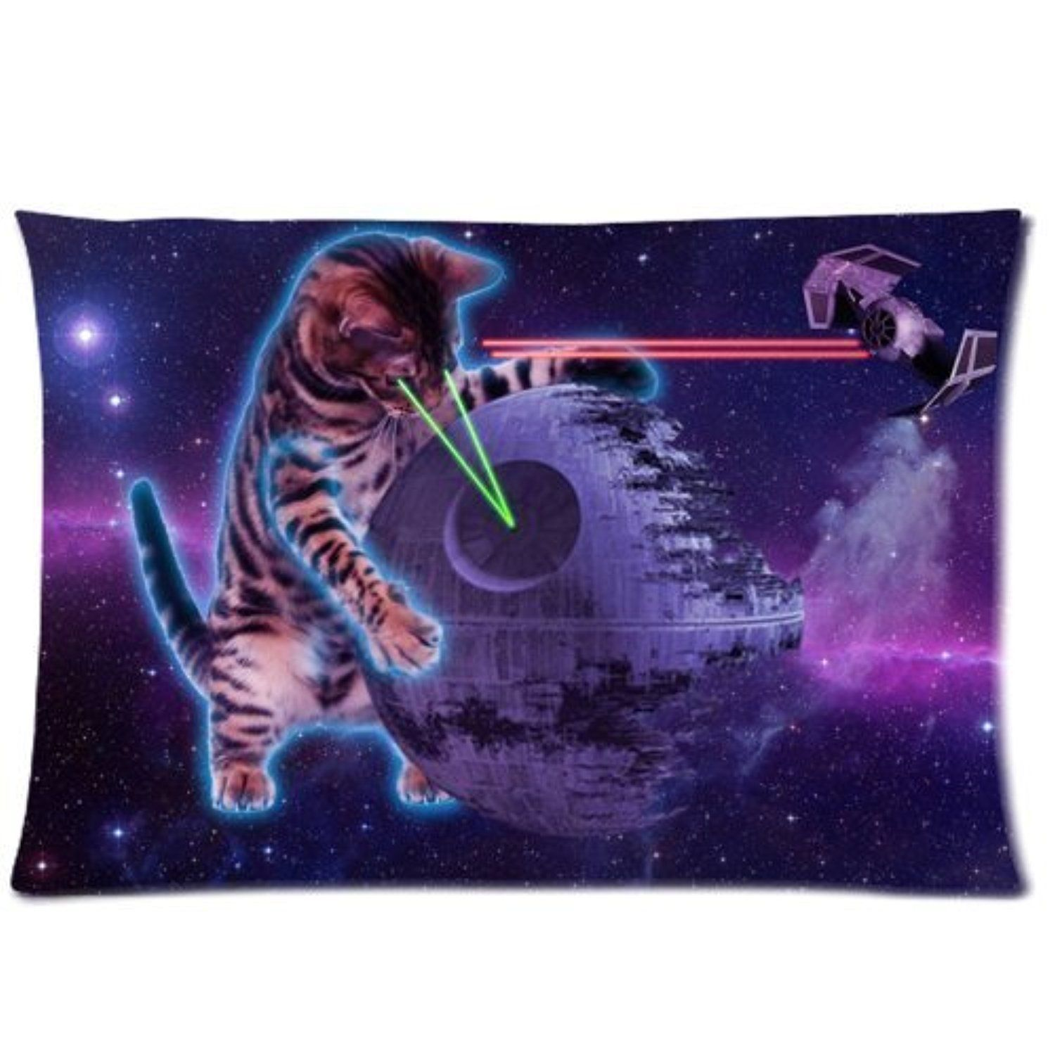 Galaxy Space Cat Soft Zippered Pillow Case Cover 16 by Pillow fashiion Single Pillowcase -- Awesome products selected by Anna Churchill