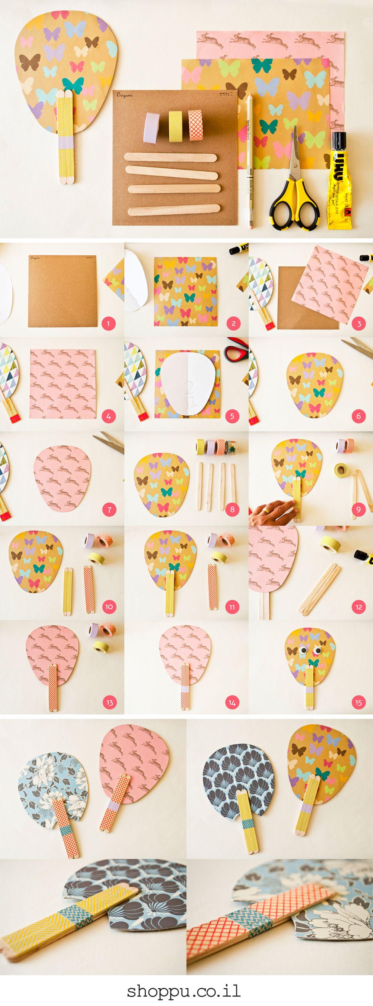 הכנת מניפות יפניות עם חומרים פשוטים