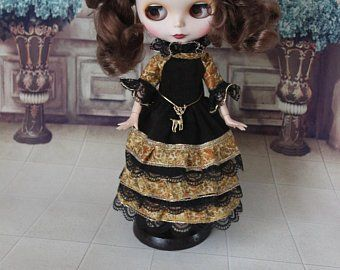 Blythe clothes and Pullip dress handcraft by PrettyBohoDoll #oyuncakbebekelbiseleri