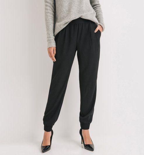 pantalon jogging chic femme noir promod mode pinterest pantalon jogging promod et jogging. Black Bedroom Furniture Sets. Home Design Ideas
