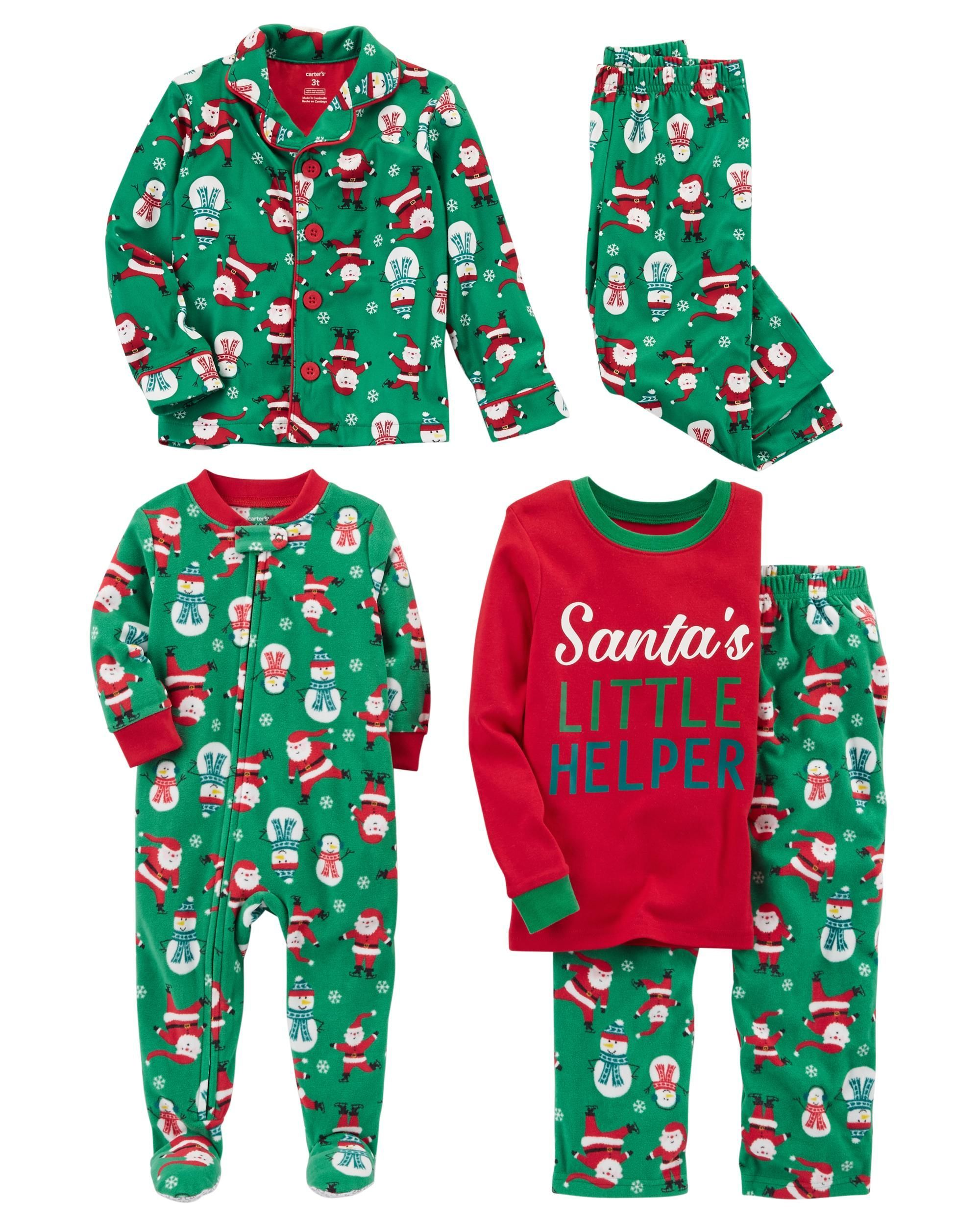 Carters Holiday Sleepwear Santa Suit 3T