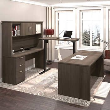 Logan U Shape Workstation With Adjustable Bridge Commercial Office Furniture Guest Room Office Corporate Office Design