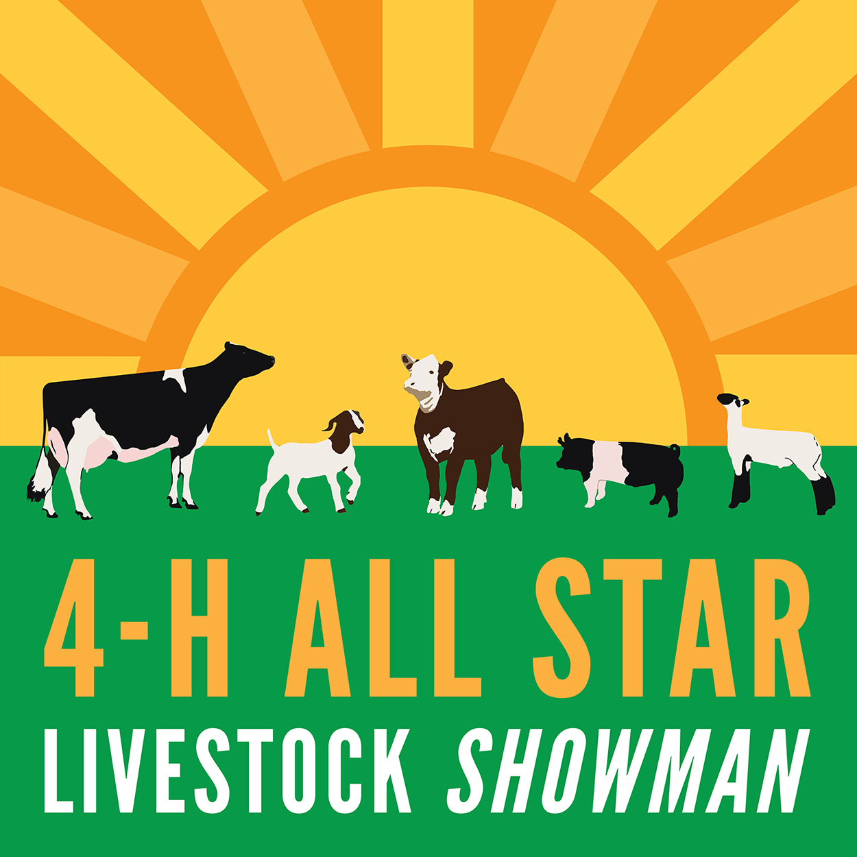 4 h poster designs -  Sticker Design Howard County 4 H All Star Livestock Showmanship Contest