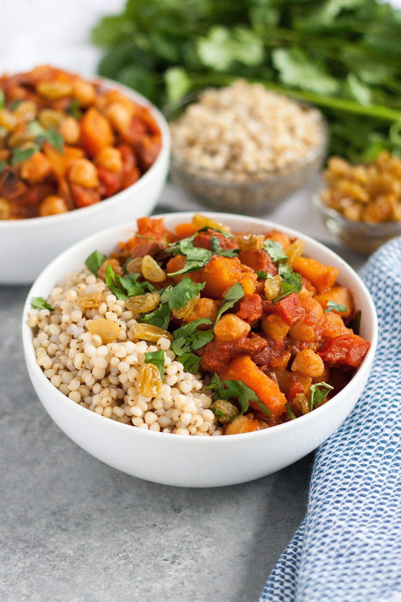 Moroccan Winter Squash And Chickpea Tagine Instant Pot Gluten Free Recipe Well Vegan Recipe Tagine Vegetarian Recipes Easy Vegetarian Recipes