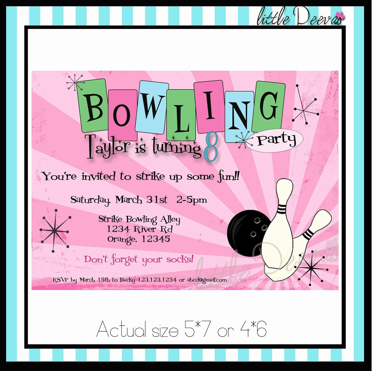 35 Bowling Birthday Party Invitations Template Bowling Party Invitations Bowling Birthday Invitations Bowling Birthday Party Invitations