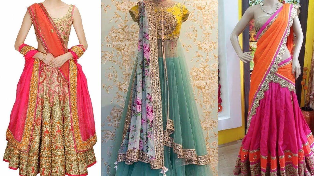 47eec0fdc3 #lehenga #lehengasaree #lehengadupatta #howtowearsaree #saree #sari  #sareedrapingstyles #sareedrapingtutorial - Ways of Wearing Lehenga Saree | 5  Gorgeous ...
