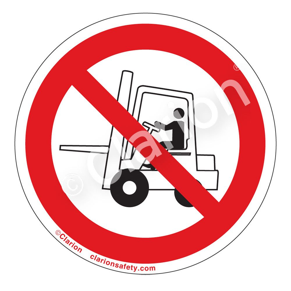 VARIOUS SIGN /& STICKER OPTIONS FORKLIFTS IN USE SIGN