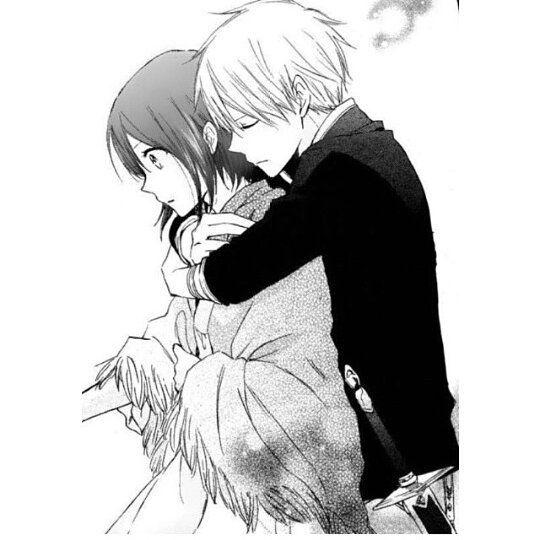 Black anime eyes hair on instagram anime pinterest - Anime boy hugging girl ...