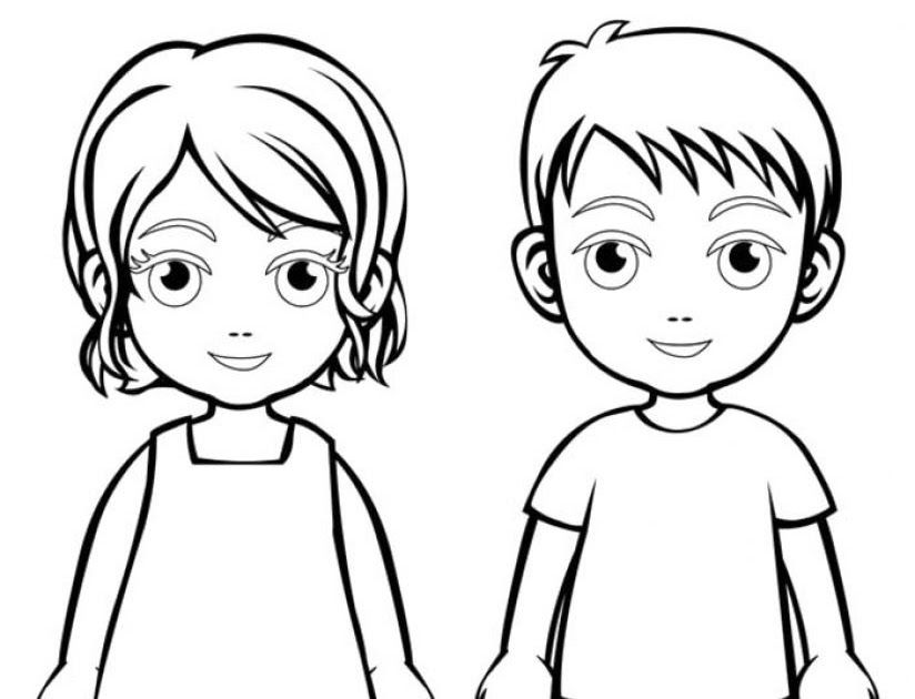 Boy Girl Coloring Page Boys And Girls Wear Colouring Pages Boys Fun For Everyone Coloring Pages For Boys Coloring Pages For Inspired Photo Of Boy And Girl C Di 2020