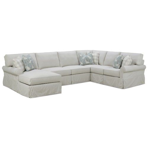 Rowe Easton Casual Sectional Sofa With Slipcover Sectional Sofa