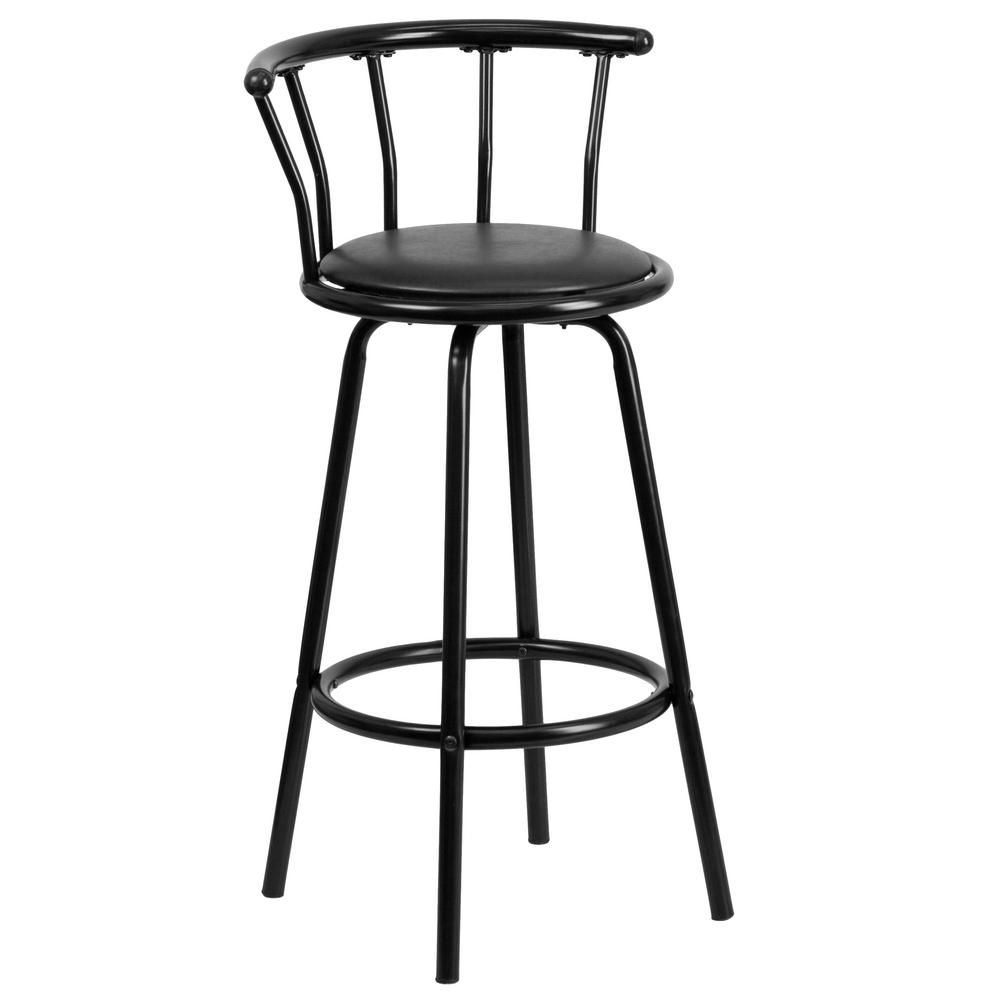 Admirable Carnegy Avenue Crown Back Black Metal Barstool With Black Dailytribune Chair Design For Home Dailytribuneorg