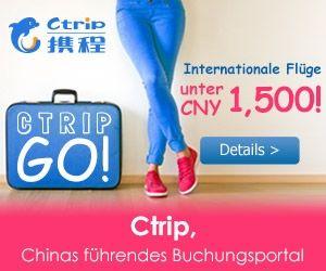 Ctrip ist eines der führenden online Buchungsportale. Das Unternehmen wurde 1999 in Shanghai gegründet und ist seit 2003 an der NASDAQ gelistet. Heute hat Ctrip über 141.000 registrierte Kunden in China und der ganzen Welt. Das Portfolio von Ctrip umfasst über 70.000 Hotels in China, 400.000 Hotels weltweit und über 1,3 Millionen Flugrouten über den gesamten Globus. $0.00 USD