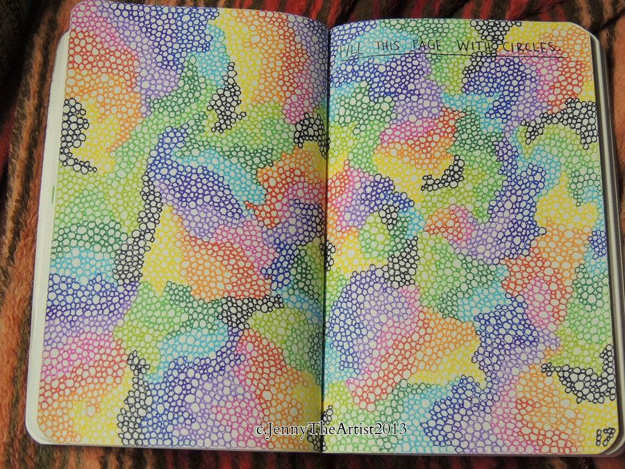 Fill The Page With Circles - Wreck This Journal by JennyArchibald.deviantart.com on @DeviantArt
