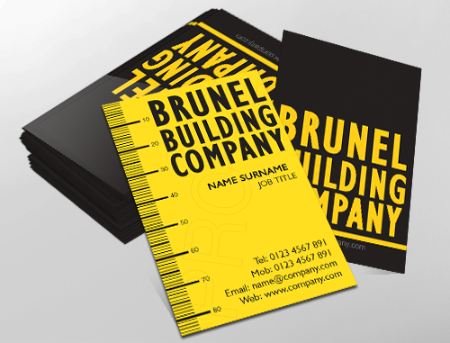 Contemporary business card design, ideal for building contractors ...