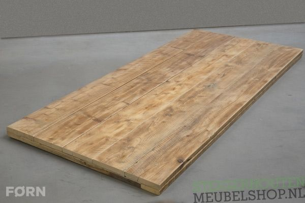 Laat jouw steigerhouten tafelblad op maat door ons maken kies je