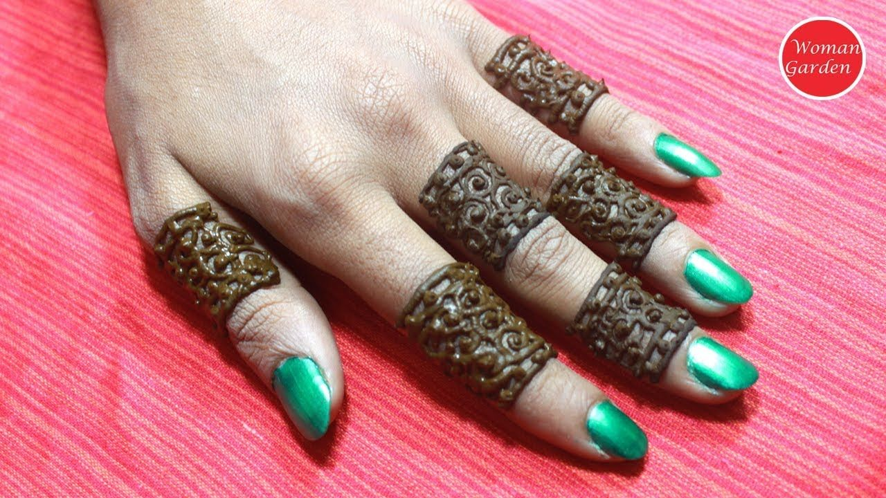 Easy \u0026 Simple finger mehndi design