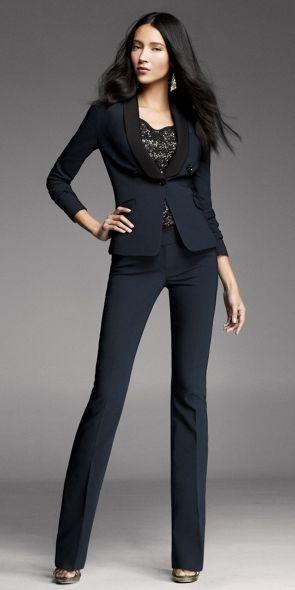 Express navy suit