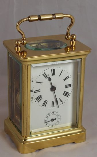French Alarm Carriage Clock 258512 Sellingantiques Co Uk Carriage Clocks Vintage Alarm Clocks Clock