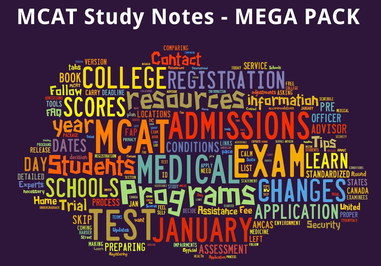 Mcat study review notes mega pack 900 pages study notes coupon codes ebooks coupons coupon mcat study notes mega pack download it now awesome mcat test prep material fandeluxe Image collections