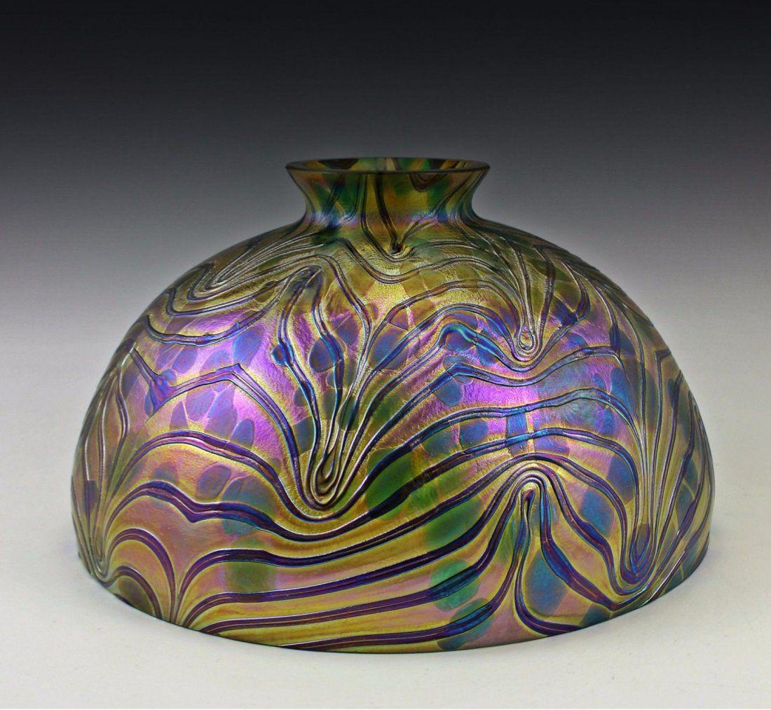 Art Nouveau Jugendstil Bohemian 10 Glass Lamp Shade