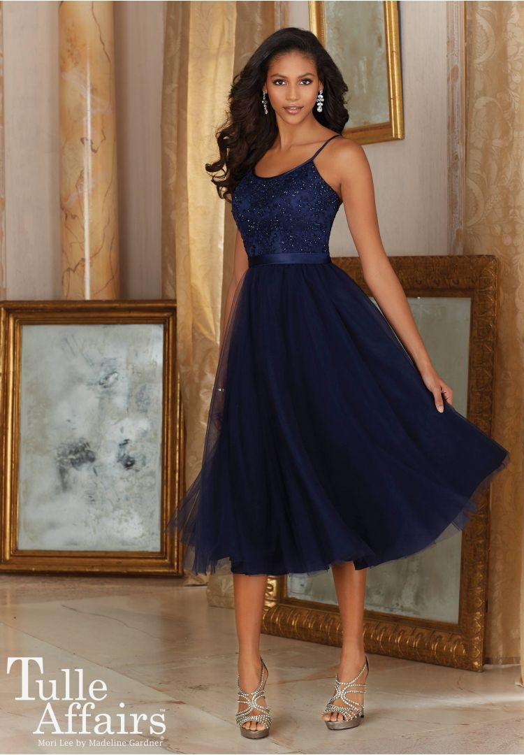 Bridesmaids dresses tulle affairs tulle with embroidery and satin