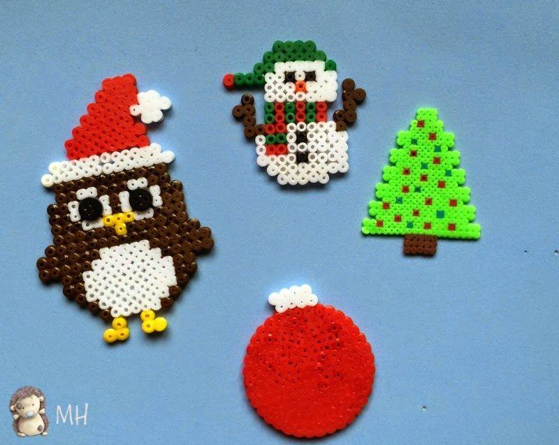 hama beads con motivos navideños Madres Hiperactivas Pinterest