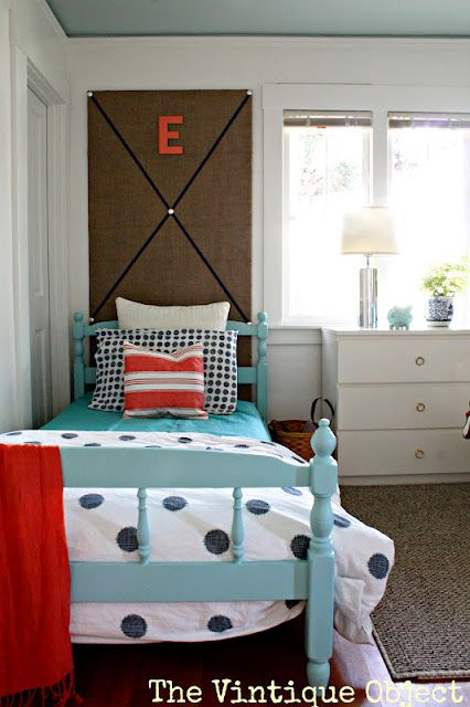 Love The Floor To Ceiling Bulletin Board Behind The Bed Great To Personalize A Space Without Taping Thin Twin Girls Room Girls Bedroom Makeover Room Finishing Master bedroom redo july 2009