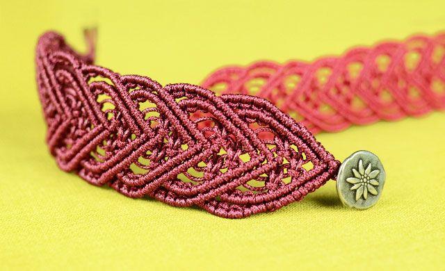 Macramé Heart Bracelet Tutorial