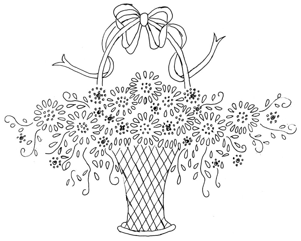 Vintage embroidery patterns easy stitches were used throughout vintage embroidery patterns easy stitches were used throughout on this basket as well the bankloansurffo Gallery
