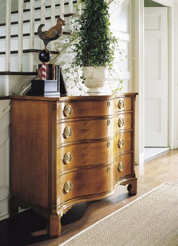 Living Room Vignette With Wood Chest Living Room Chest Antique